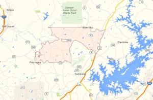 Cumming GA Map 30028 Zip Code Location